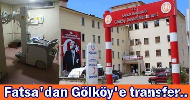 Gölköy Devlet Hastanesine röntgen ünitesi kuruldu..