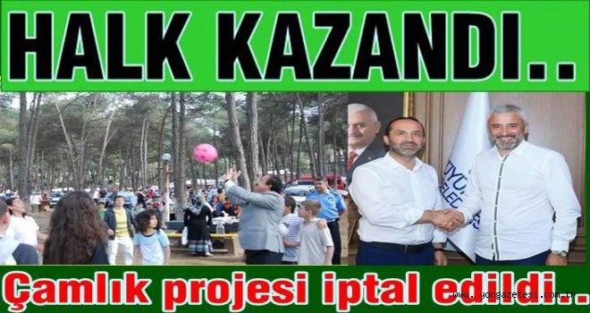 Halkın tepkisi Çamlık projesini durdurdu..