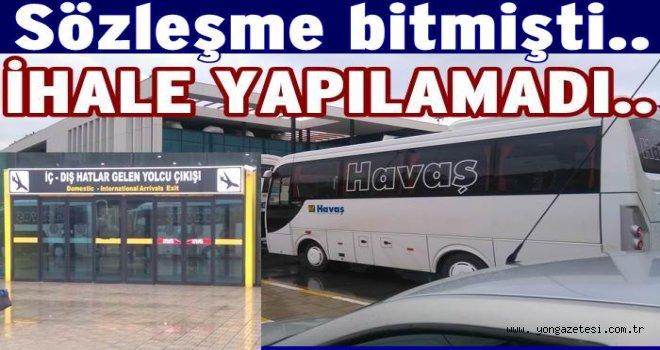 HAVA ALAN İHALESİNE GİREN OLMADI..