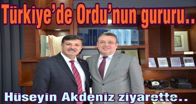 HÜSEYİN AKDENİZ MALİ MÜŞAVİRLER ODASINDA..