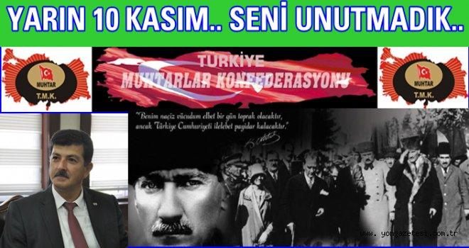 Hüseyin Akdeniz'in Atatürk'ü anma 10 Kasım mesajı..