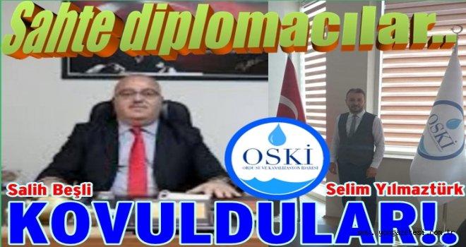 İki sahte diplomacılar OSKİ'den kovuldular..
