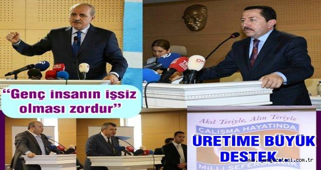"""""""İstihdam Zirvesi"""", Kurtulmuş'un başkanlığında  gerçekleştirildi.."""