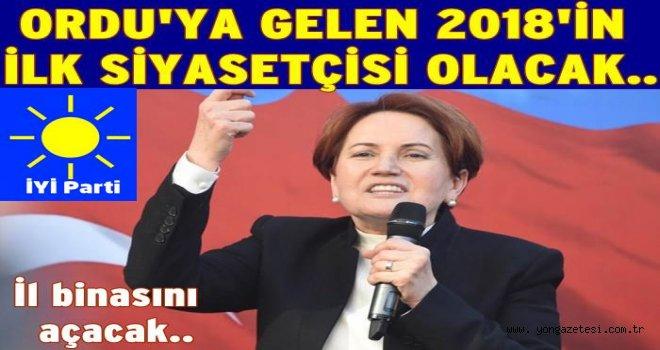 İYİ Parti genel başkanı Meral Akşener Ordu'ya geliyor.
