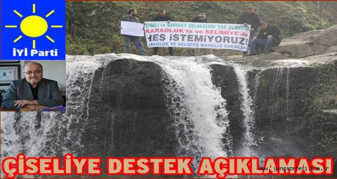 İYİ Partiden Çiseli şelalesine destek..