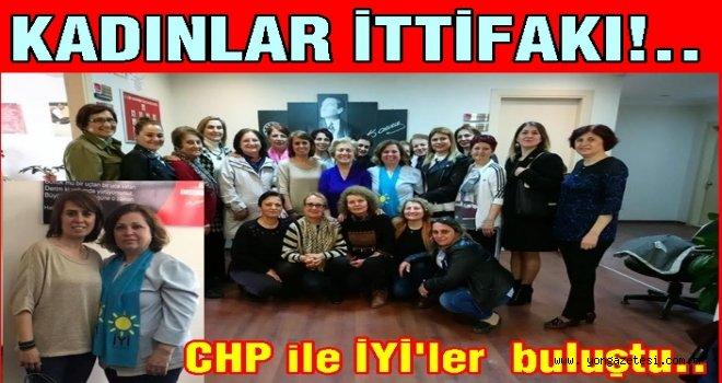 İYİ Partili kadınlar CHP'li kadınlarla buluştu..
