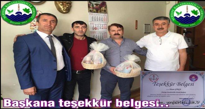 Karadenizliler derneğinden eğitime katkı ve destek..