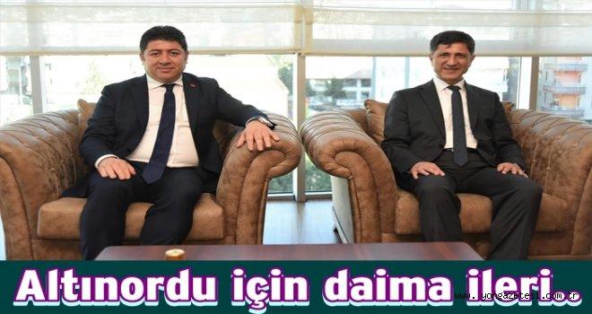 KAYMAKAM ERTEN'DEN, BAŞKAN TÖREN'E ZİYARET..