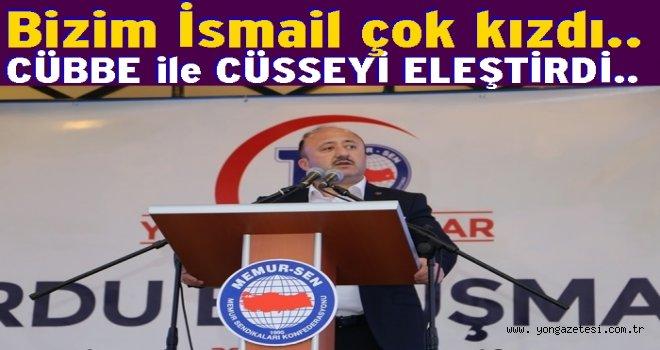 Memur-Sen başkanı İsmail Çelenk Hakimleri eleştirdi..