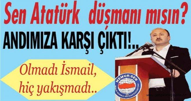 Memur-Sen şube başkanı İsmail Çelenk'e  büyük tepkiler var..