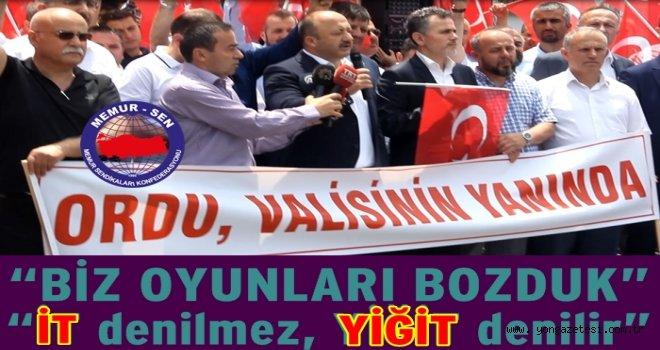 MEMUR SEN'DEN VALİ YAVUZ'A  DESTEK..