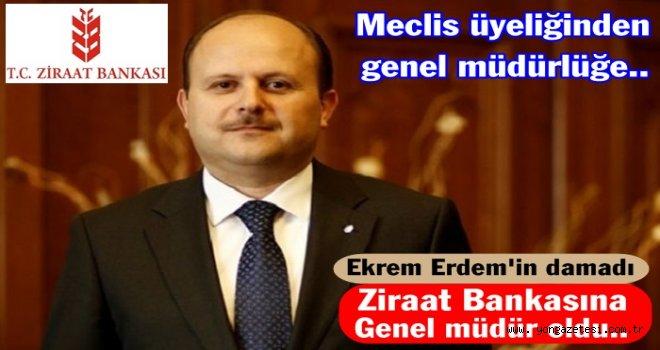 Metin Özdemir Ziraat Bankasına  genel müdür  oldu..