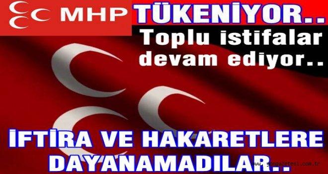 MHP'de toplu istifalar bugün de devam etti..