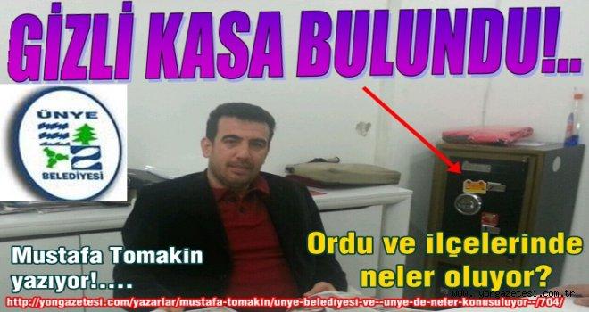 Mustafa Tomakin Ünye dosyasını açıyor..