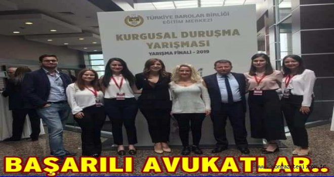 Ordu Barosu Ankara'da 1. oldu..