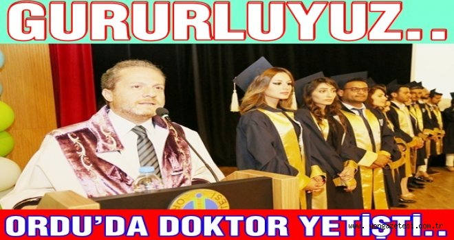 Ordu Tıp Fakültesinde Mezuniyet Heyecanı..