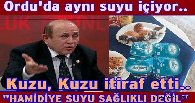 Ordu'da İstanbul HAMİDİYE suyu kullanılıyor..
