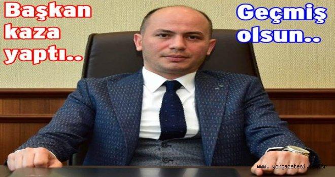 Yeni Orduspor kulüp başkanı trafik kazası yaptı..