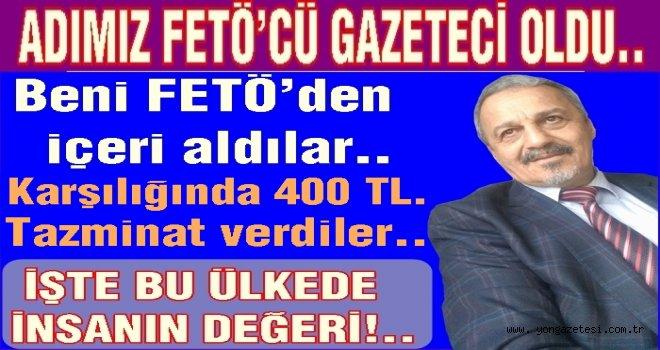 Osman Şahin 89 saat nezarette yattı.400 TL tazminat kazandı..