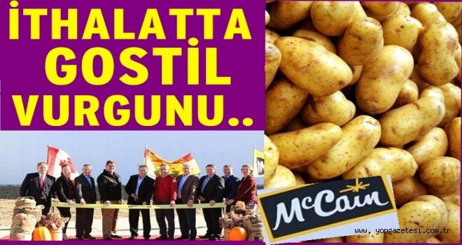 Patates ithalatının altında BİM Marketleri yatıyor.
