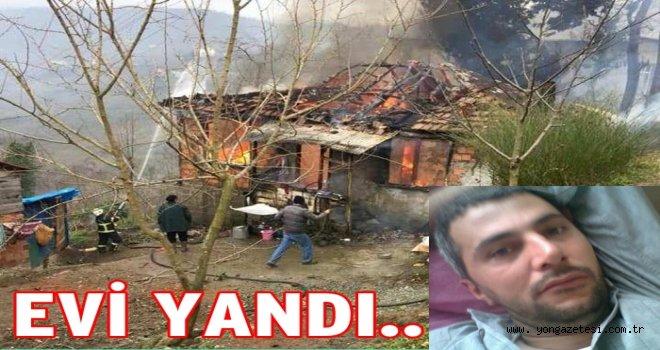 Perşembe'de bir ev tamamen yandı..