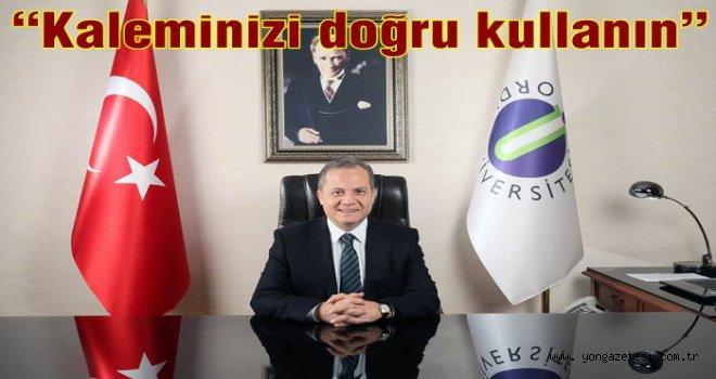 Prof. Dr. Tarık Yarılgaç'ın Basın Bayramı Mesajı..