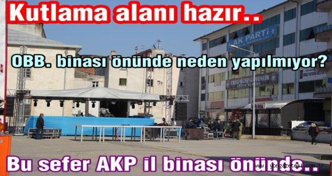 Referandum kutlaması (!) AKP il binası önünde yapılacak..