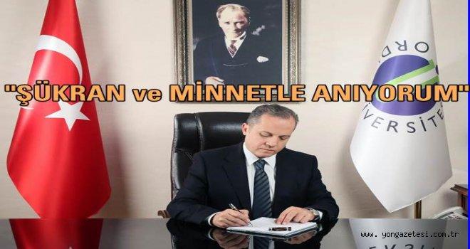 Rektör Prof. Dr. Tarık Yarılgaç'ın 10 Kasım Anma Mesajı..