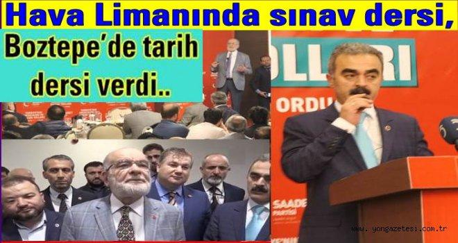 Saadet Partisi Genel başkanı Boztepe'den seslendi..