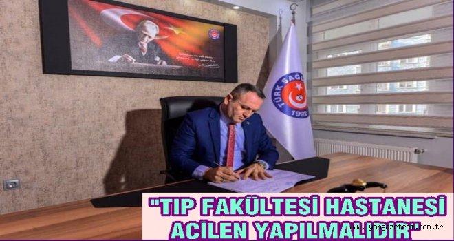 Türk Sağlık Sen'den Tıp Fakültesi hastanesine destek..