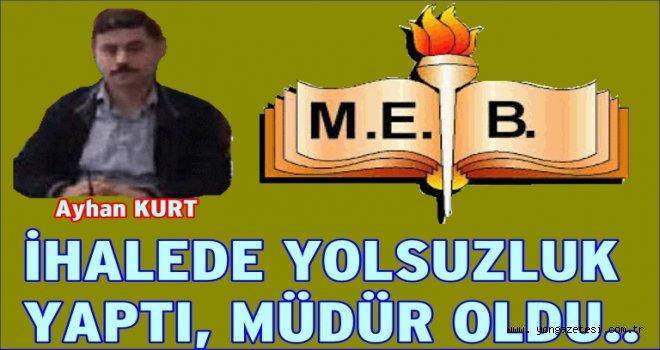 Şaibeli Müdür Ayhan Kurt Esenler'e şube müdürü olarak atandı..