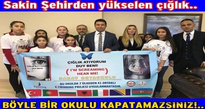 Saray Ortaokulundan sloganlı önemli proje..