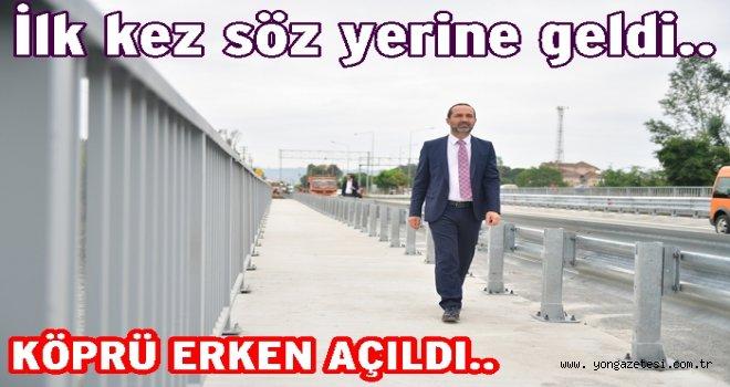 Selden yıkılan Cevizdere köprüsü trafiğe açıldı..