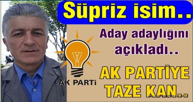 Sinan Acar, AKP ilçe  başkanlığına aday..