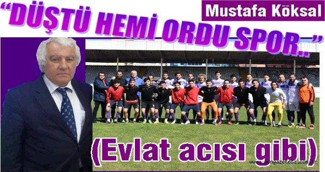 Süper Ligden amatöre düşen Ordusporun acısı..