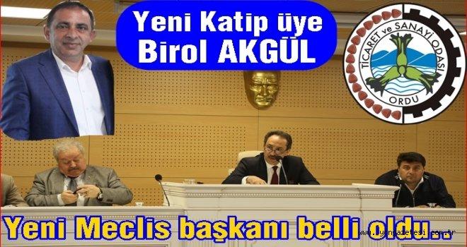 TİCARET ODASI  MECLİS BAŞKANINI SEÇTİ..