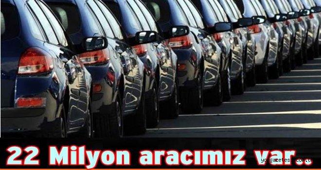 Trafiğe kayıtlı araç sayısı yüzde 14 arttı..
