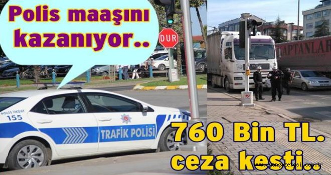 Trafik hatalı sürücülere caza yağdırdı..