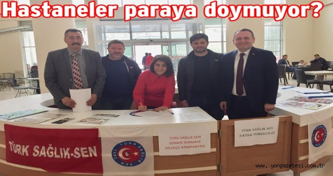 Türk Sağlık Sen imza kampanyası başlattı..