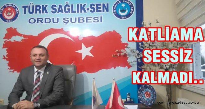 Türk Sağlık-Sen İsrail zulmünü kınadı..