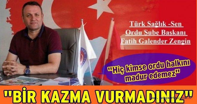 Türk Sağlık-Sen Sağlık hizmetlerini sordu..