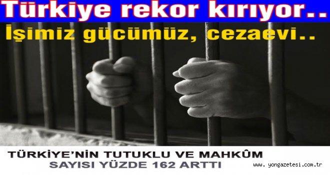 Türkiye'de  mahkûm sayısı yüzde 162 arttı..