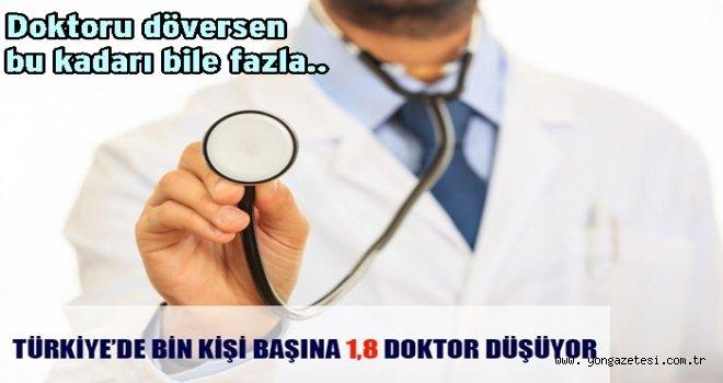 Türkiye'de doktor sayılarında da geride kaldık..