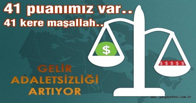 Türkiye'de gelir adaletsizliği artıyor..