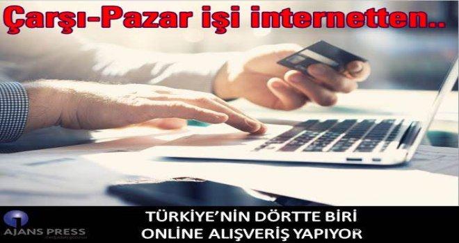 Türkiye'nin dörtte biri online alışveriş yapıyor..