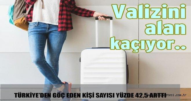 Türkiye'yi en çok  gençler terk ediyor..