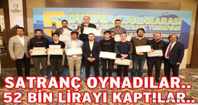 Uluslar Arası satranç turnuvası sona erdi..
