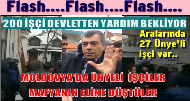 Ünye'li 27 Türk işçisi Moldovya'da mafyanın eline düştü..
