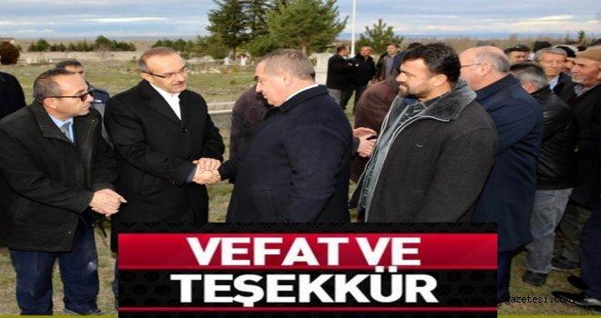 Vali  Seddar Yavuz, Teşekkür Etti..