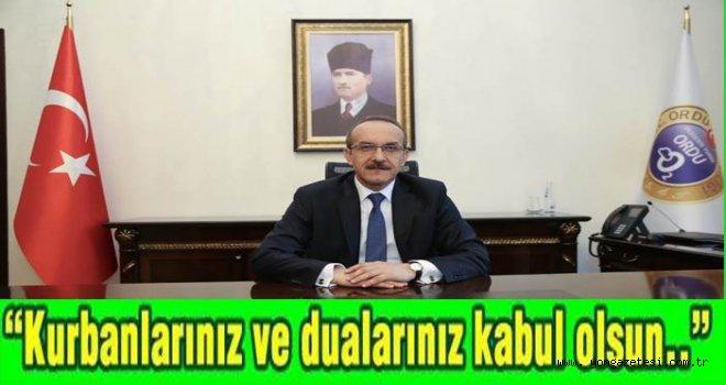 Vali Seddar Yavuz, bayram mesajı yayınladı..